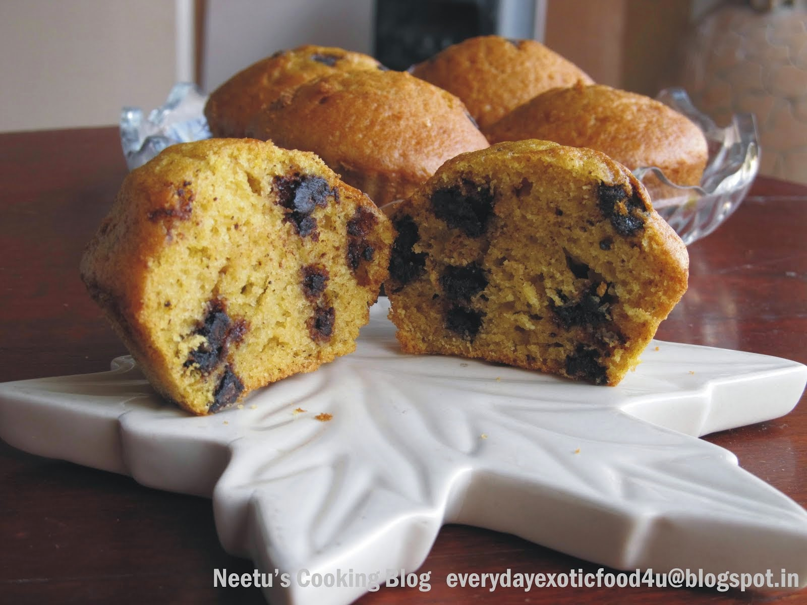 Chocochip Pumpkin Muffins