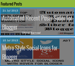 Ajouter Slide automatisé verticale article recent  Blogger