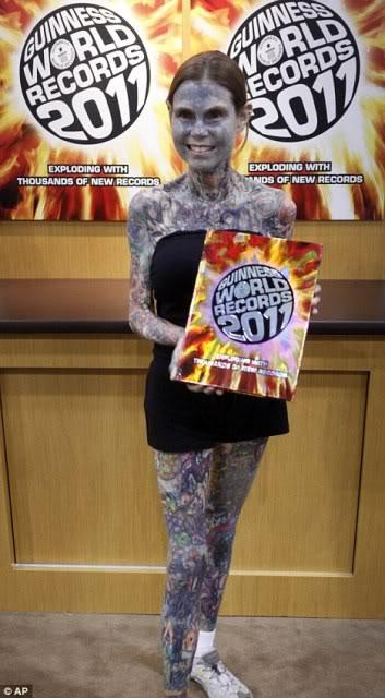 Wanita Dengan Tatto Terbanyak di Dunia, Julia Gnuse.
