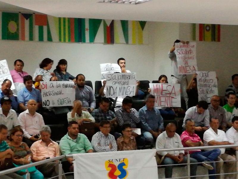 USO por la defensa del Santurbán y participa durante debate en la asamblea departamental