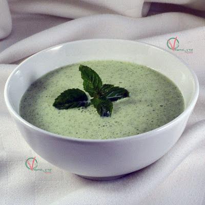 Sopa fría de pepino.