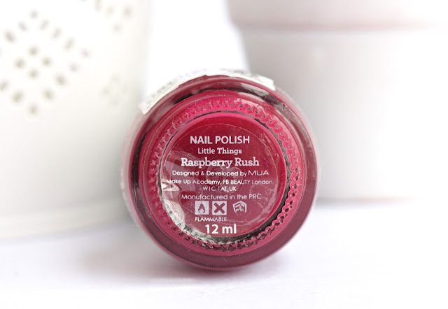 MUA 1D Nail Polish Little Things in Raspberry Rush