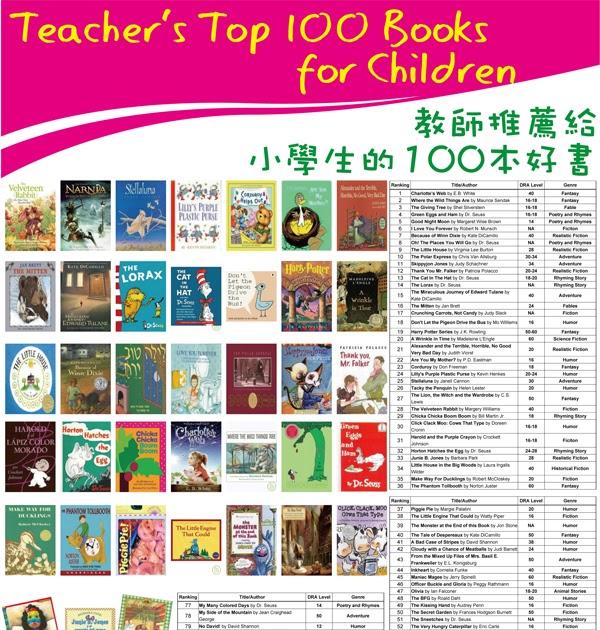 best books for preschoolers 夢想之森兒童圖書館部落格 7 8月主題悅讀 s top 100 books for children 100