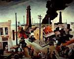 Boomtown (1928), Thomas Hart Benton