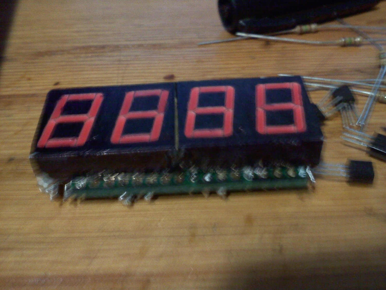Digitalduino An Arduino Diy Tachometer Display Led Rpm Meter Circuit Diagram For Automobiles Segment