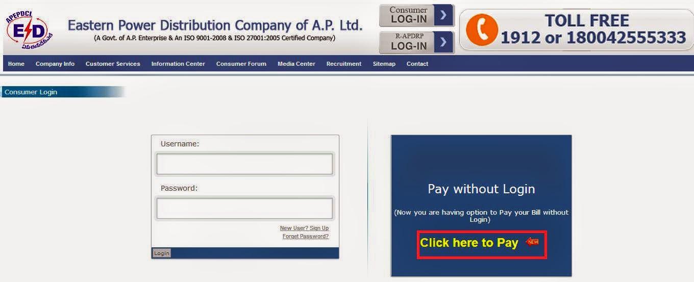 APEPDCL Online Bill Payment