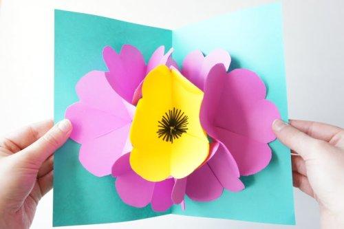 I d l e w i f e diy project pop up flower card mightylinksfo