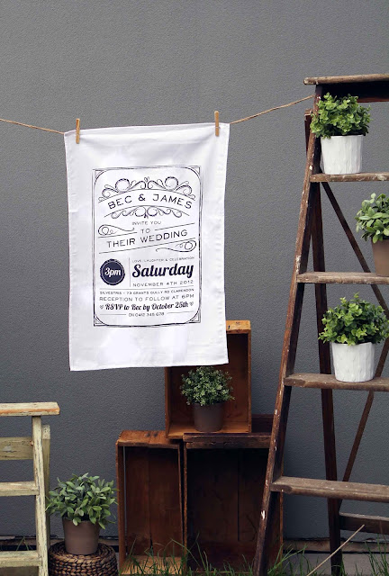 wedding tea towels bonbonierre favor save the date wedding invitations australia wedding stationery perth melbourne sydney adelaide sail and swan