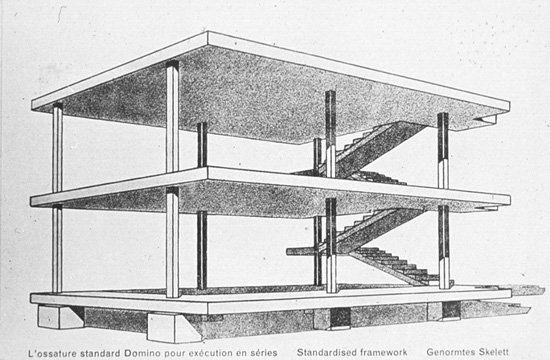 Between architecture and life towards a new architecture for 5 points corbusier