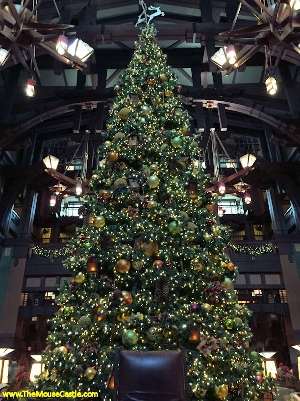 Christmas tree in the Grand Californian Hotel lobby