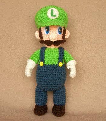 Amigurumi Hongo Mario Bros : Patrones Amigurumi Gratis: Patron amigurumi Luigi - Mario Bros