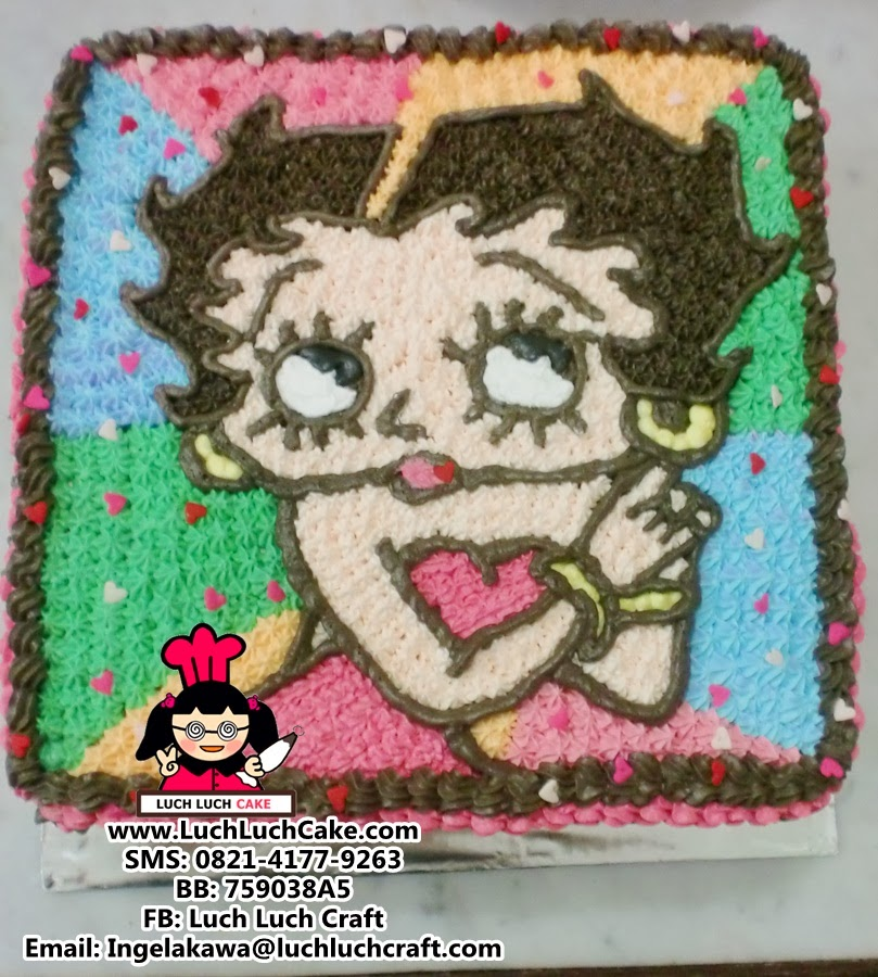 Kue Tart Betty Boop Daerah Surabaya - Sidoarjo