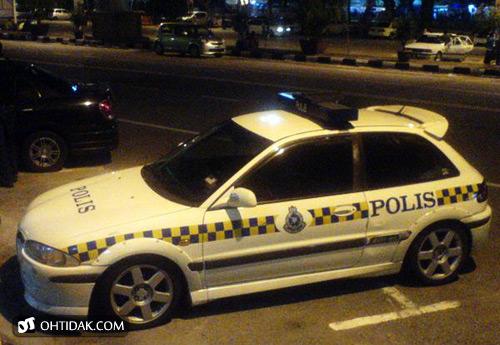 kereta polis satria GTI