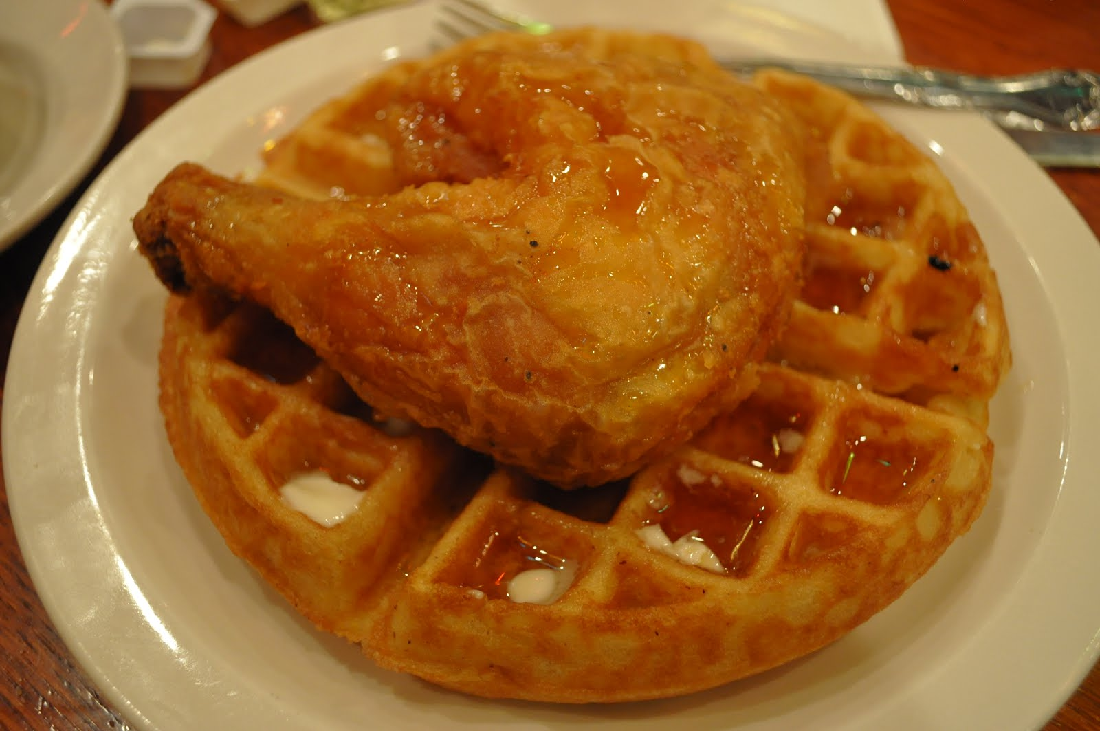 fried chicken and waffles history four chicken tenders and four waffle ...