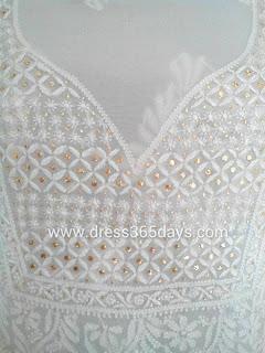 Chikankari Dress Material with Mukesh work
