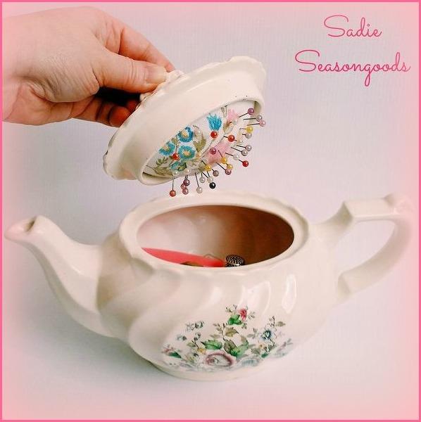 http://www.hometalk.com/8552143/vintage-teapot-sewing-caddy-with-hidden-pincushion?utm_medium=facebook&date=20160102