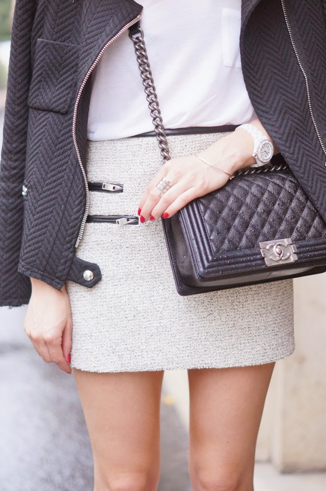 zara, tweed, iro, isabel marant, chanel, look du jour, streetstyle, outfit, chic, parisienne