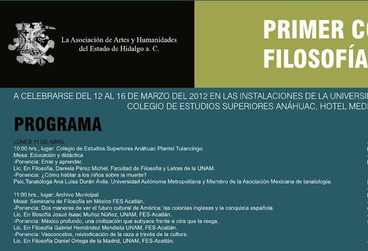 Participación del Seminario en el Congreso en Tulancingo de Bravo, Hidalgo.