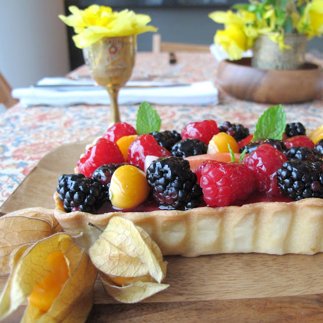Fine Motor Skills: MEYER LEMON CREAM TART WITH BERRIES