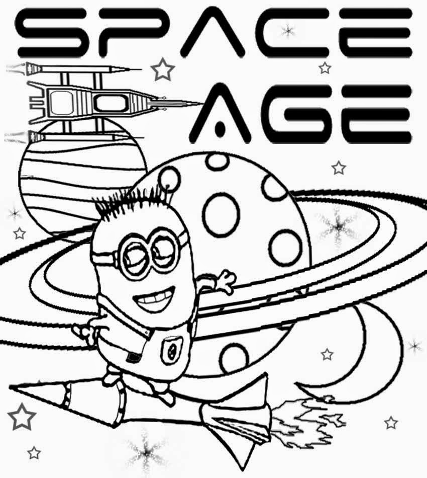 Coloring games online minion - Online Drawing Ideas Kids Costume Rocket Man Minion Coloring Book Solar System Printable Wallpaper