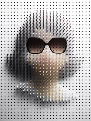 pin art - famous face - philip karlberg - creative design