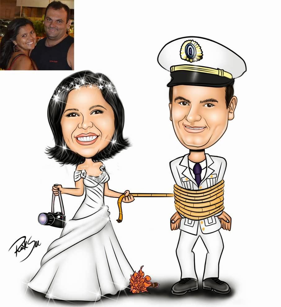 noivo marinheiro com ricksu caricaturas
