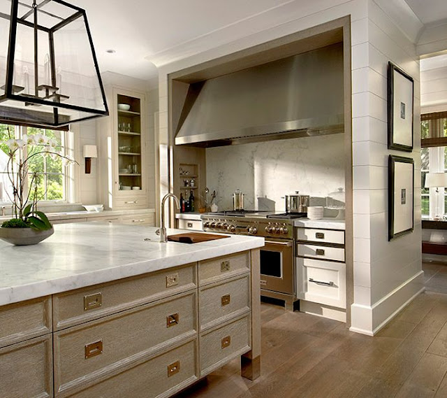 Peonies and orange blossoms cerused french oak kitchens for Kitchen design 43055