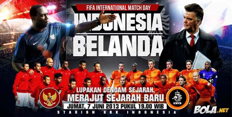 Live Streaming Indonesia vs Belanda di RCTI