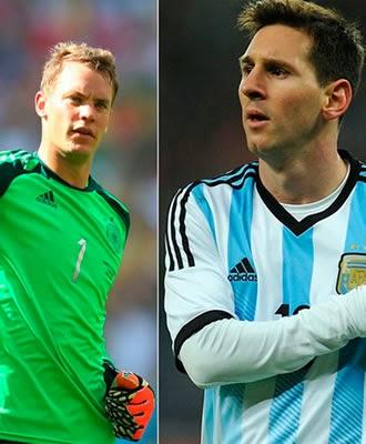 Goleiro Neuer da Alemanha e Lionel Messi da Argentina são eleitos os melhores da Copa do Mundo