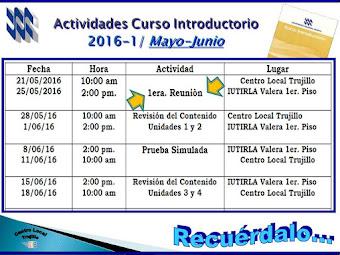 Introductorio Actividades mayo-junio