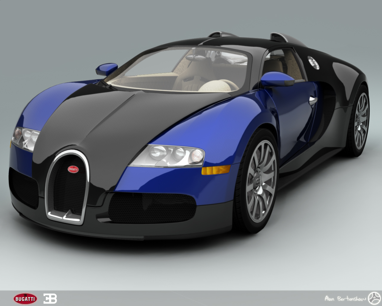Super Jump Cars: bugatti veyron blue