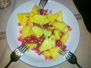 Sobremesa Ananás e Romã