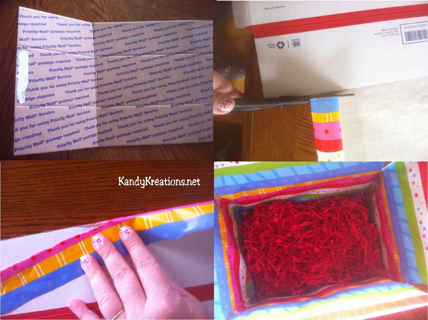 How to decorate the inside of a mailing box