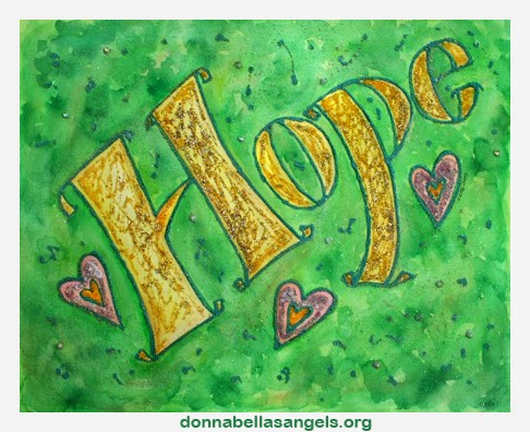 Hope Word Inspirational Art Painting