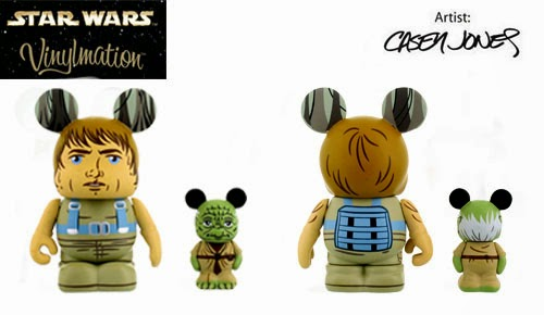 Star Wars Vinylmation Series 4 by Disney - Luke Skywalker 3 Inch Vinylmation & Yoda 1.5 Inch Vinylmation Jr. 2 Pack