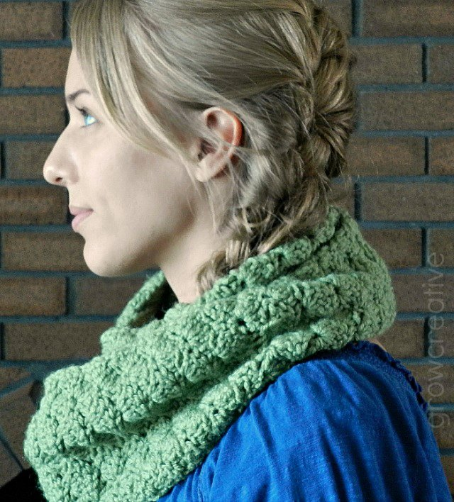 Handmade Crochet Infinity Scarf- with a link to the free crochet pattern: by Elise Engh: Grow Creative