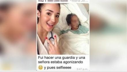 Estudiante se toma 'selfie' con paciente en agonía