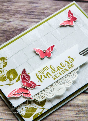 Kinda Eclectic Brick Wall Butterfly Card