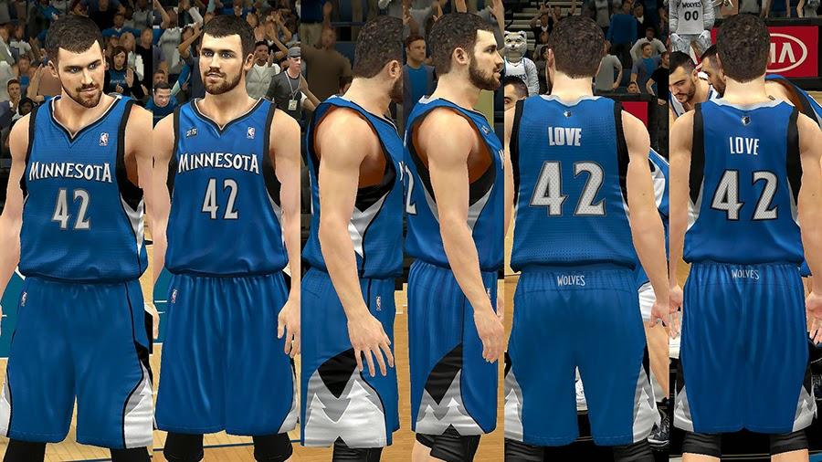 NBA 2K14 Minnesota Timberwolves Jersey Mod Pack