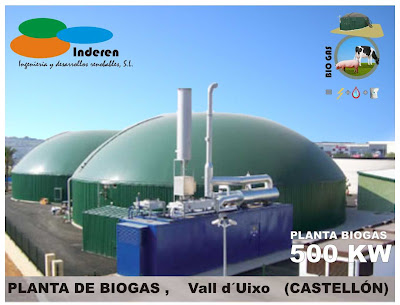 contenedor planta de biogas val duixo castellon 500 KW INDEREN biodigestores ENERGIAS RENOVABLES VALENCIA