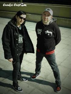 Germán y Pepe con sus zapas Skunk DF!!