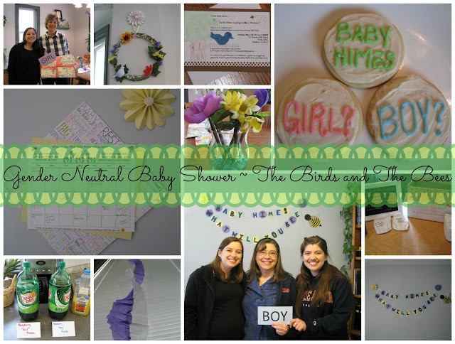 Gender Neutral Baby Shower The Birds and The Bees Adventures of D and V