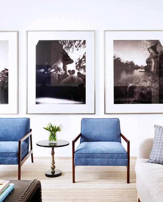 Living Room Art | Design And Photo Via Mark Ashby Design.