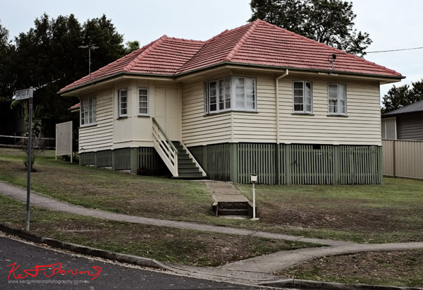 40's 50's weatherboard home on a treeless block of land, Carina Brisbane.