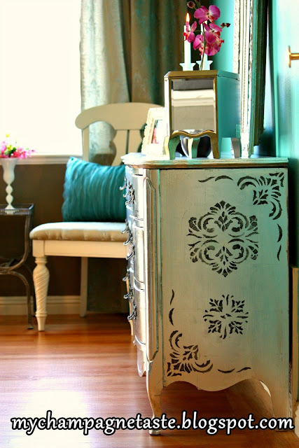 I Ll Tell You A Secret This Was My First Silver Leaf Project Ever And It Wasn T That Easy Lied 3 Times The Over Dresser
