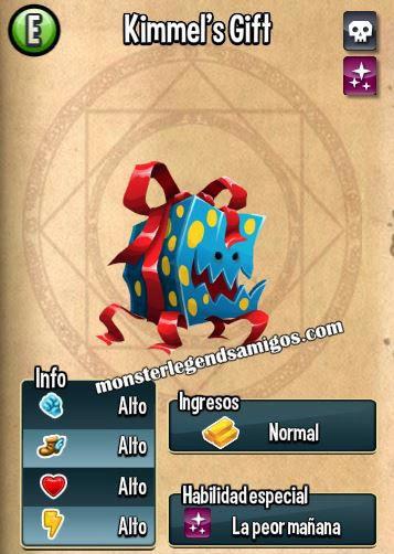 imagen de las caracteristicas del kimmels gift