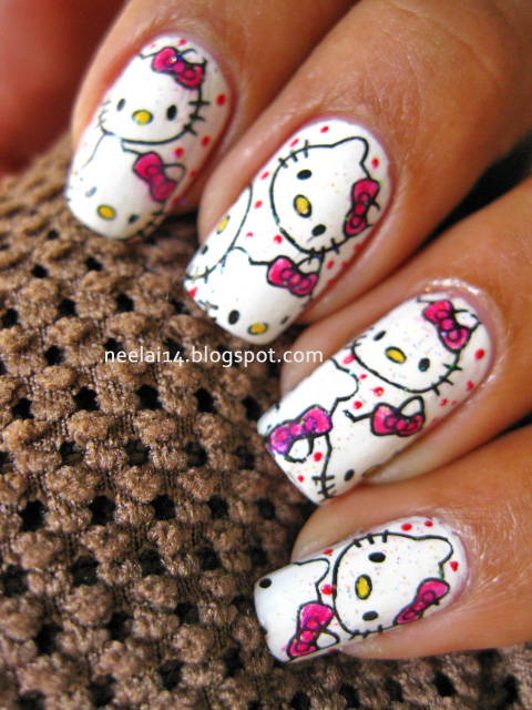 Nail Stash Hello Kitty Nails