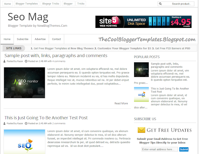 SEO Mag Blogger Template