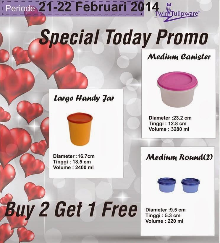 Promo Tulipware 21 dan 22 Feb 2014
