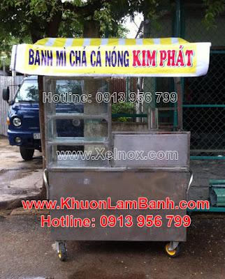 Xe bánh mì chả cá nóng Kim Phát